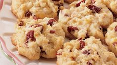 Coconut adds tropical flavor to these tasty cranberries and oats cookies - perfect dessert to treat your guests.