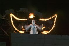 angel with fire wings