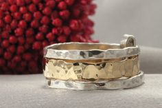 A personal favorite from my Etsy shop https://www.etsy.com/il-en/listing/262387695/gold-and-silver-ringsset-of-3-14k-gold