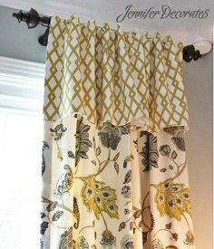 Window treatment ideas from Jenniferdecorates.com