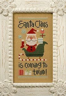 Christmas cross stitch pattern Coming To Town Santa '11 Snippet (S100) from Lizzie Kate (includes counted cross stitch pattern)