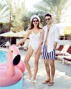 J.Crew women's V-neck tie one-piece in white. To pre-order, call 800 261 7422 or email verypersonalstylist@jcrew.com.