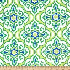 Michael Miller Lavinia Honore Mint - Discount Designer Fabric - Fabric.com