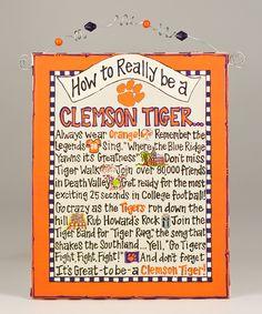 Clemson How To Beaded Canvas