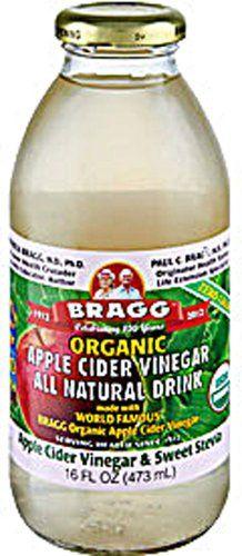 Bragg Apple Cider Vinegar with Sweet Stevia 12x16 OZ * Learn more by visiting the image link. Braggs Apple Cider Vinegar, Acv, Body Cleanse Diet, Coconut Oil Weight Loss, Organic Apple Cider Vinegar, Natural Detox, Detox Recipes, Detox Drinks, Organic Recipes