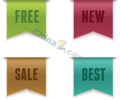 Colorful sales tags design vector