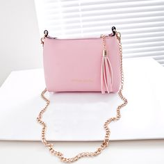 Pink Shell PU Leather Women Handbag Chain Shoulder bag Crossbody Messenger bag Candy color Casual Free shipping yearhappy-in Crossbody Bags from Luggage & Bags on Aliexpress.com US $8.99