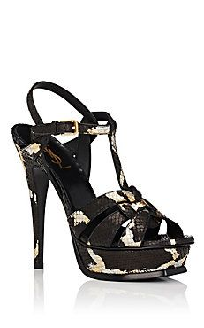 Saint Laurent Tribute Python Platform Sandals