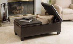 Groupon - Alpine Leather Storage Ottoman Coffee Table in [missing {{location}} value]. Groupon deal price: $199.99