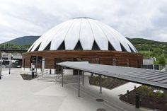 """Gare - Bellegarde-sur-Valserine - Exposition """"Prises de vues points de vue : 25 ans d'architecture publique dans l'Ain"""""""