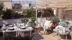 Amazing Rooftop Porch and Balcony Designs That Will Inspire You – Rockindeco - Terrasse Ideen Roof Terrace Design, Rooftop Design, Patio Design, Garden Design, Railing Design, Design Design, Balkon Design, Porch And Balcony, Outdoor Balcony
