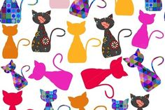 Cats seamless pattern by LuizaVictorya on Creative Market