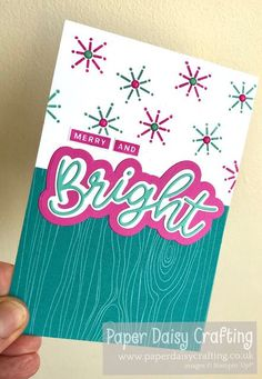 Paper Daisy Crafting: Merry and Bright in Magenta Madness and Coastal Cabana Paper Daisy, Merry And Bright, Magenta, Stampin Up, Paper Crafts, Projects, Log Projects, Tissue Paper Crafts, Stamping Up