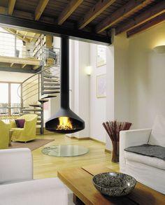 contemporary central fireplace (open hearth) ERGOFOCUS Focus