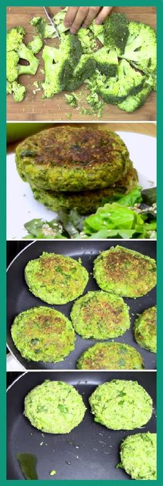 Hamburguesas de brócoli. Healthy Cooking, Healthy Eating, Cooking Recipes, Healthy Habbits, Vegetarian Menu, Healthy Recepies, Veggie Recipes, Food Inspiration, Food Porn