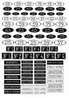 Journal Pages Printable, Printable Paper, Printable Labels, Digital Paper Freebie, Window Envelopes, Framed Words, Images Vintage, Printable Numbers, Free Graphics