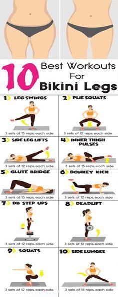 Top 10 Best Workouts For Bikini Legs