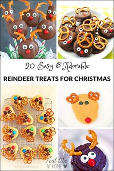 Looking for easy treats for Christmas bake sales or winter class parties? Here are 20 awesome reindeer treats for you to try!