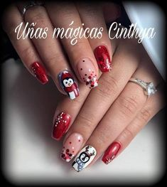 Christmas Nails, Beauty, Christmas Manicure, Xmas Nails