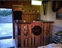 Bar Für Partyraum Aus Paletten Holz,Partyraum,Bar,Palette,Tresen