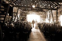 country barn wedding, bride and groom photo