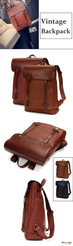 US$36.94+Free shipping. Women's Bags, Vintage Backpack, Laptop Bags, School Bag, Shoulder Bags. Material: PU Leather. Color: Dark Brown, Black.