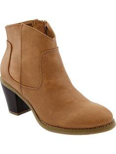 Women's Textured Short-Zip Boots Product Image