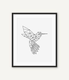 Hoi! Ik heb een geweldige listing op Etsy gevonden: https://www.etsy.com/nl/listing/481529866/humming-bird-print-geometrische-bird