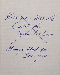 Always Glad To See You, Tracey Emin, 1996 Tracey Emin, Sheet Music Art, You Are My Everything, Love Always, Body Love, Love You More Than, Coven, See You, Amazing Quotes