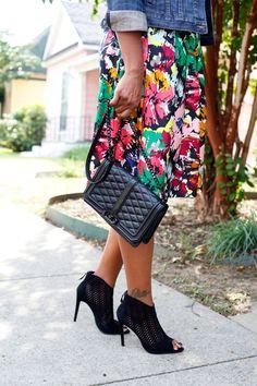 Fall Fashion | J. Crew Dress | Denim Jacket | Rebecca Minkoff bag | Zara Bootie