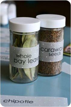DIY Spice Jar Labels - It's The Life Andrea Templeman