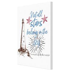 Tablou canvas - Not all stars belong in the sky - Culoare Albă - Monkeez All Star, Sky, Stars, Canvas, Heaven, Tela, Heavens, Sterne, Canvases