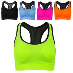 Women Absorb Sweat Vest Sports Gym Shaped Bra Back No Wheels Wireless Sports Bra
