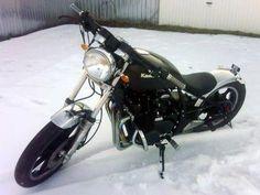 Kawasaki Z 550 LTD, self modified in 2 weeks. Custom Choppers, Custom Motorcycles, Chopper Motorcycle, Cool Bikes, Bobber, Cow, Cool Stuff, Ideas, Motorbikes