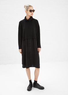 Y's by Yohji Yamamoto Turtleneck Dress