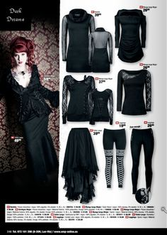 Heavy Metal, Romantic Goth, Victorian Goth, Gothic Outfits, Pin Up, Htm, Clothes For Women, My Style, Shirts
