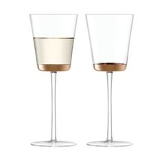 Discover+the+LSA+International+Edge+White+Wine+Glass+Rose+Gold+-+Set+of+2+at+Amara