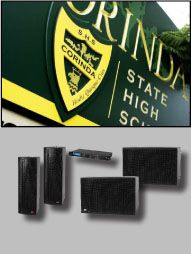 Acoustic Technologies is a compact trapezoidal shaped speaker enclosure popular with AV contractors for retail, restaurants and churches. State School, School S, P A System, Speakers, Acoustic, Compact, Bass, Drama, Audio