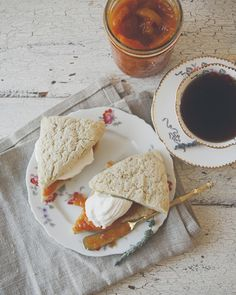 Lavender scones with homemade pumpkin marmalade.