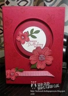 Flower Spinner - Great Stampin Up card I want to make