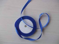 blue satin ribbon blue 1 cm 22 metres £1.50