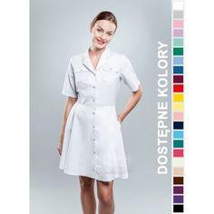 Sukienka Medyczna Hansa 0204 | Odzież damska | Dla lekarzy, farmaceutek i pielęgniarek. | Sklep internetowy Dersa |
