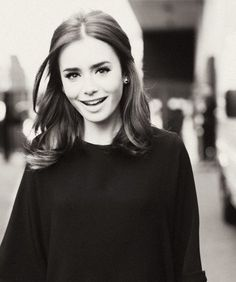 lily collins. She is just gorgeous!! I love her eyebrows