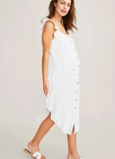 White Maternity Dresses, Stylish Maternity, Linen Dresses, Maternity Fashion, Early Stages Of Pregnancy, Pregnancy Looks, Pregnancy Outfits, Hatch Maternity, Spring Maternity