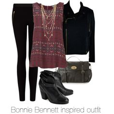 """""""Bonnie Bennett inspired outfit/The Vampire Diaries"""" by tvdsarahmichele on… Bonnie Bennett, Soft Summer, Fall Winter Outfits, Autumn Winter Fashion, Fashion Fall, Casual Outfits, Cute Outfits, Fashion Outfits, Vampire Diaries Fashion"""