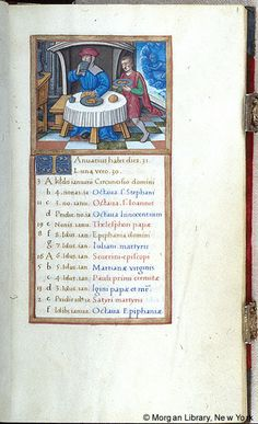 January - Book of Hours - France, Paris, ca. 1510-1520 - MS M.85 fol. 1r