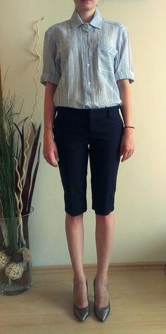 Light Blue Soft Linen Shirt Casual Shirt by PrincipessaLabel, $55.00