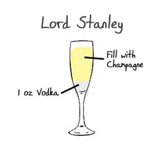 Hockey themed drinks: Lord Stanley