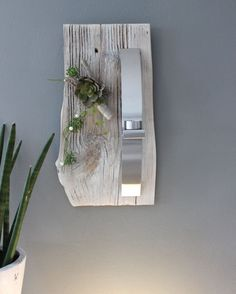 Cute WD u Edle Wanddeko aus altem Holz UNIKAT Altes Holzbrett wei gebeizt dekoriert