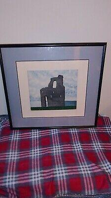 """Ballybunion"" Castle by K. Ebay Paintings, Art Deco Illustration, Art Mat, Etching Prints, Foil Art, Mountain Landscape, Bird Prints, American Artists, Vintage Signs"
